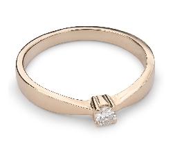 """Помолвочное кольцо с Бриллиантом """"Элегантность 10"""""""