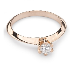 """Помолвочное кольцо с Бриллиантом """"Принцесса 23"""""""