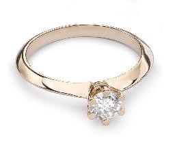 """Помолвочное кольцо с Бриллиантом """"Принцесса 24"""""""