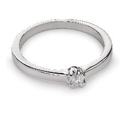 """Помолвочное кольцо с Бриллиантом """"Принцесса 25"""""""