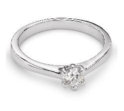 """Помолвочное кольцо с Бриллиантом """"Королева сердца 21"""""""