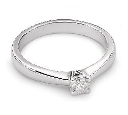 """Помолвочное кольцо с Бриллиантом """"Элегантность 12"""""""