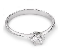 """Помолвочное кольцо с Бриллиантом """"Принцесса 26"""""""