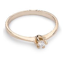 """Помолвочное кольцо с Бриллиантом """"Принцесса 27"""""""