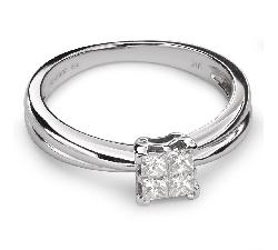 """Помолвочное кольцо с Aлмазами """"Принцессы 40"""""""