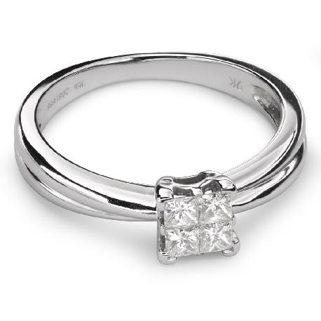 """Помолвочное кольцо с алмазами """"Принцессы 40"""""""