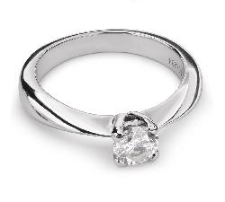 """Помолвочное кольцо с Бриллиантом """"Элегантность 14"""""""