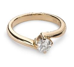 """Помолвочное кольцо с Aлмазом """"В объятиях любви 21"""""""