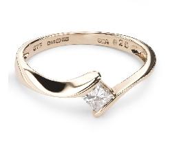 """Помолвочное кольцо с Aлмазом """"Принцесса 39"""""""