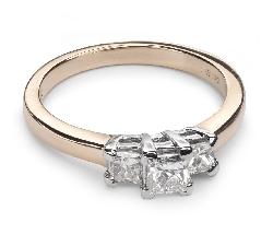 """Zelta gredzens ar Dimantiem """"Triloģija 15"""""""