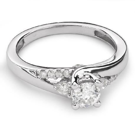 """Помолвочное кольцо с Бриллиантами """"Грациозность 78"""""""