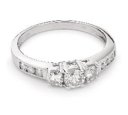 """Золотое кольцо с Бриллиантами """"Трилогия 18"""""""