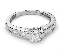 """Золотое кольцо с Бриллиантами """"Грациозность 79"""""""