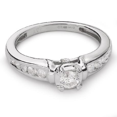 """Помолвочное кольцо с Бриллиантами """"Грациозность 79"""""""
