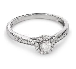 """Золотое кольцо с Бриллиантами """"Бриллиантовый букет 30"""""""