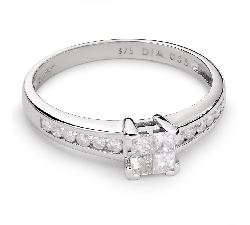 """Золотое кольцо с Aлмазами """"Принцессы 41"""""""