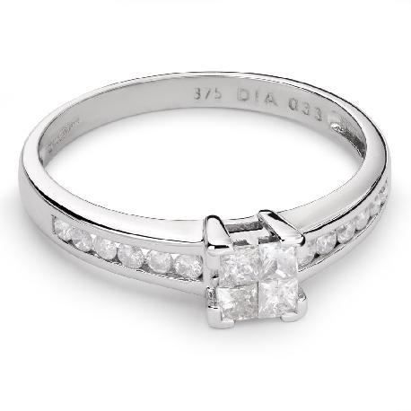 """Помолвочное кольцо с алмазами """"Принцессы 41"""""""