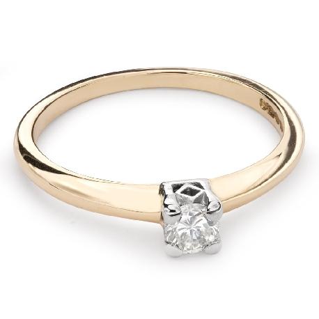 """Помолвочное кольцо с Бриллиантом """"Прочность 80"""""""