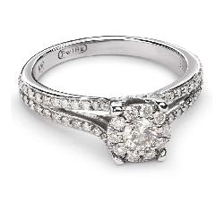 """Saderināšanās gredzens ar Dimantiem """"Briljantu pušķis 31"""""""