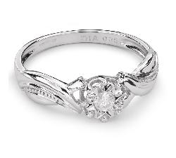 """Zelta gredzens ar Briljantu """"Mīļais 52"""""""
