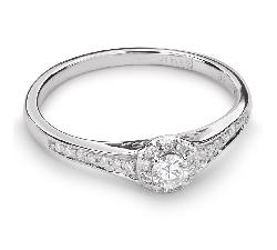 """Золотое кольцо с  Бриллиантом """"Бриллиантовый букет 32"""""""