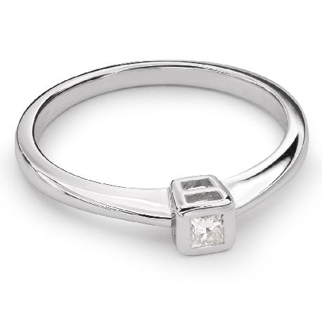 """Помолвочное кольцо с Aлмазом """"Объятная 24"""""""