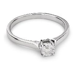 """Zelta gredzens ar Briljantu """"Mīļais 55"""""""