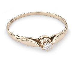 """Помолвочное кольцо с Бриллиантом """"Единственная 73"""""""