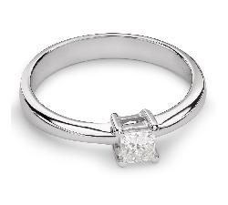 """Золотое кольцо с Aлмазом """"Принцесса 45"""""""