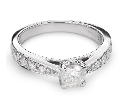 """Золотое кольцо с Бриллиантами """"Грациозность 81"""""""