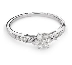 """Золотое кольцо с Бриллиантами """"Бриллиантовый цветок 27"""""""