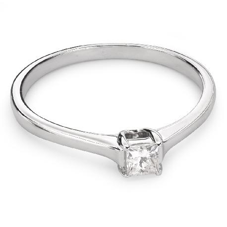"""Золотое кольцо с Aлмазом """"Принцесса 46"""""""