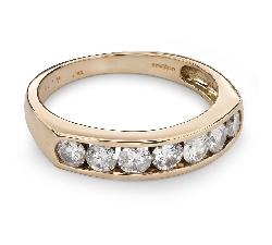 """Золотое кольцо с Бриллиантами """"Алмазная полоска 33"""""""