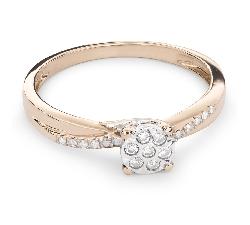 """Золотое кольцо с Бриллиантами """"Возлюбленный 59"""""""