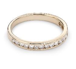"""Золотое кольцо с Бриллиантами """"Алмазная полоска 34"""""""