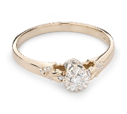 """Zelta gredzens ar Briljantu """"Mīļais 60"""""""