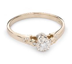 """Золотое кольцо с  Бриллиантом """"Возлюбленный 60"""""""