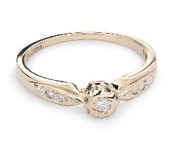 """Zelta gredzens ar Briljantu """"Mīļais 63"""""""