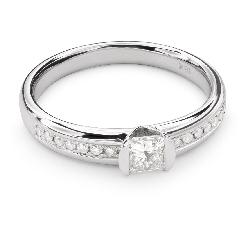 """Золотое кольцо с Aлмазами """"Принцесса 47"""""""