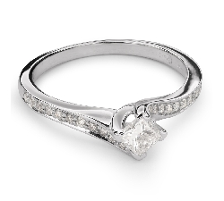 """Золотое кольцо с Aлмазами """"Принцесса 48"""""""