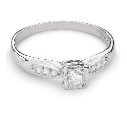 """Zelta gredzens ar Dimantiem """"Mīļais 66"""""""