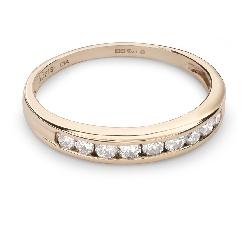 """Золотое кольцо с Бриллиантами """"Алмазная полоска 38"""""""