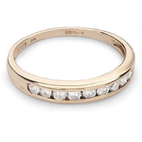 "Zelta gredzens ar Briljantiem ""Dimanta jostīte 38"""