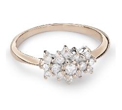 """Помолвочное кольцо с Бриллиантами """"Бриллиантовый цветок 28"""""""