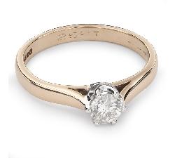 """Помолвочное кольцо с бриллиантом """"Единственная 77"""""""
