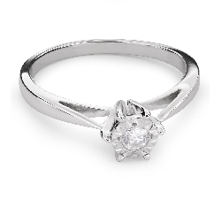 """Saderināšanās gredzens ar briljantu """"Mīļais 70"""""""