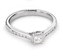 """Помолвочное кольцо с алмазами """"Принцесса 49"""""""