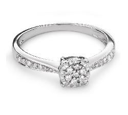 """Помолвочное кольцо с Бриллиантами """"Грациозность 85"""""""
