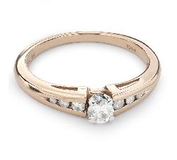 """Помолвочное кольцо с Бриллиантами """"Грациозность 86"""""""