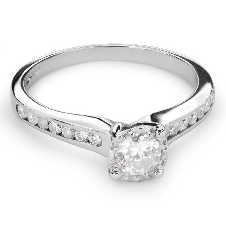 """Помолвочное кольцо с Бриллиантами """"Грациозность 87"""""""